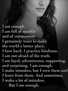Not perfect but I am enough. Value Quotes, New Quotes, Girl Quotes, Woman Quotes, Happy Quotes, Positive Quotes, Quotes To Live By, Inspirational Quotes, Motivational