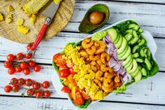 This Tangy Shrimp Avocado Salad is Clean Eating Done Right!