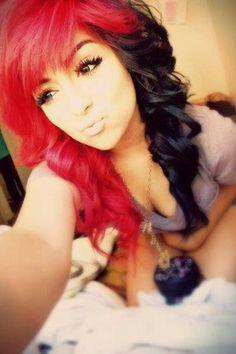 Red and black hair....I miss my dark hair