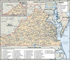 View Maps of Virginia including interactive county formations, old historical antique atlases, links and more | Maps of US.org