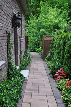 Narrow Side Yard Design Ideas 026 Choosing a landscape design for your home side yard is not an easy task. Back Gardens, Outdoor Gardens, Small Gardens, Modern Gardens, Side Yard Landscaping, Landscaping Ideas, Florida Landscaping, Luxury Landscaping, Backyard Privacy