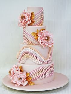 crazy wedding cakes One of our favorite color combination of pink Pastel Wedding Cakes, Crazy Wedding Cakes, Crazy Cakes, Elegant Wedding Cakes, Beautiful Wedding Cakes, Gorgeous Cakes, Wedding Cake Designs, Fancy Cakes, Pretty Cakes