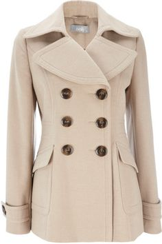 Women's Pink Petite Majesty Peacoat | Christmas gifts Spring