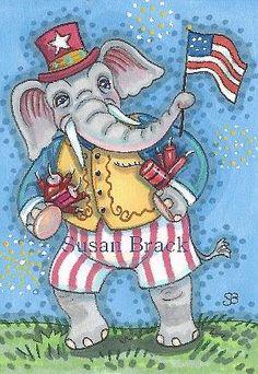 Art 'GRAND OLE FLAG' - by Susan Brack from AMERICANA PATRIOTIC
