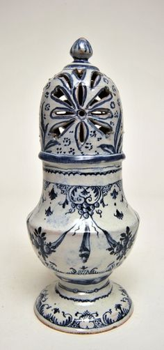 Sugar Caster, c.1760    Sugar Caster, c.1760  Faience  French, Toulouse  Unmarked  Height: 22 cm.