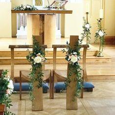 Love the unique furniture in the Sacred Heart Church, Minane Bridge by @josephwalshstudio #weddingdetails #irishwedding #churchflowers #weddingflowers #irishflorist #corkwedding #bloomsdayflowers