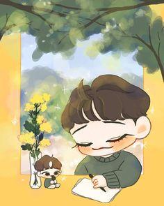 Chibi, Exo Art, Drawings, Exo Fan Art, Exo Chibi Fanart, Anime, Exo Anime, Fan Art, Chibi Drawings