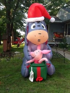 Christmas Airblown Inflatable Disney Eeyore And Piglet From Winnie The Pooh All Things Christmas, Christmas Holidays, Christmas Decorations, Pooh Bear, Tigger, Disney Christmas Inflatables, Eeyore Pictures, Eeyore Quotes, Thanksgiving Wishes