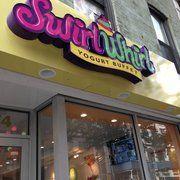Photo of Swirl Whirl Yogurt Buffet - New York, NY, United States. The sign...