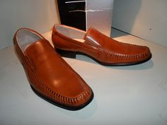 FRANCO VANUCCI MEN'S DRIVER SHOES IN LIGHT BROWN S/6601 Size  10 $80 Value