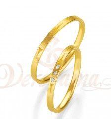 Βέρες γάμου χρυσές με διαμάντι breuning 4319-4320