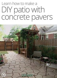 DIY Patio with Concrete Pavers other awesome how to videos