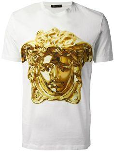 versace, medusa tshirt, gold