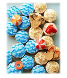 Summer Beach Party Cupcakes