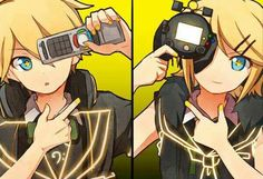 Credits to the Awesome Artist - Kagamine Rin and Len from VOCALOID ((Song: Remote Control by. Jesus-P))