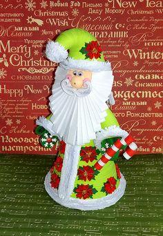 Arte 3D quilling Quilled arte di carta a mano Babbo Natale