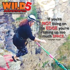 Sometimes all it takes, is a leap of faith! This quote makes us realize that… if you agree! Living On The Edge, Bungee Jumping, Leap Of Faith, Picture Video, Quote, Activities, Adventure, Website Link, Life