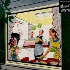 1948-1949 GE Kitchen lighting ad