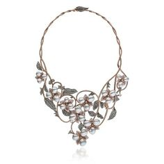 New orchid collection necklace by Autore
