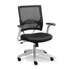 Computer Chair in Vertical Mesh, OFF-10537, Ergonomics, Clean Lines, Modern, Professional, Home office.