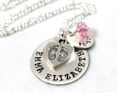 Personalized Necklace for New Mom, Personalized Gift, available from…