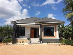 10 Best House Design for Three-Bedroom Homes With Floor Plans Simple Bungalow House Designs, Modern Bungalow House, Cool House Designs, Simple House, House Floor Design, Small House Design, West Facing House, Modern Bungalow Exterior, Philippines House Design