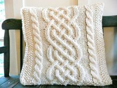 knit pillows | ... Knit Pillow Cover PATTERN - For those of you who can knit your own