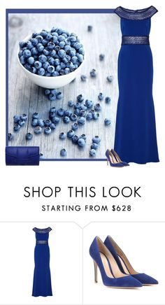 """""""blueberry contest"""" by bodangela ❤ liked on Polyvore featuring Badgley Mischka, Gianvito Rossi and Emeline Coates"""