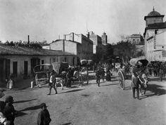 Entrada a Valencia por el portal de Santa Lucía (Guillem de Castro) siglo XIX