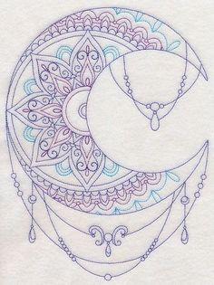 Resultado de imagen de mandala moon tattoo