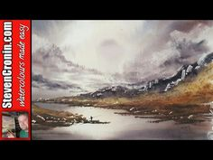 Learn to paint landscapes in watercolour - YouTube