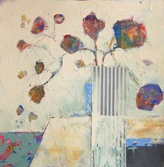 Striped Vase  - Judy Thorley - Mixed Media Artist .........#GT