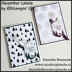 Sneak peek tijd! Deze week laat ik projecten zien met de nieuwe Nederlandse bundel: December Labels met punch van Stampin' Up!