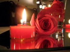 #candle #red-rose #peaceful #darknights
