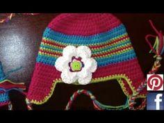 Crochet Ear Flap Braided Hat