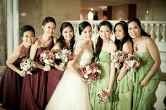 Bridesmaid dresses by Tammy Tan.