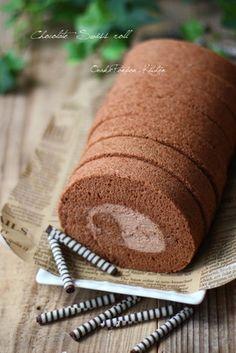 ココアのふわふわ♡チョコロールケーキ♡