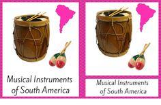 MUSICAL INSTRUMENTS OF SOUTH AMERICA MONTESSORI INSPIRED CARDS FOR CONTINENT BOX #montessori #printables #montessorinature
