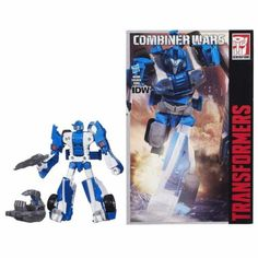Put the cloaking power of Mirage in the hands of a Combiner and look out — that's 30 tons of steel sneaking up behind you and walloping you with a punch you can't see coming. The Decepticons won't know what hit them. Combine and convert for awesome Transformers action! This cover ops Mirage figure brings his blaster to the fight when he's in robot mode, and he converts fast to race car mode when chasing down Decepticons is the primary objective.