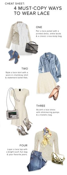 Four must-copy ways to wear lace!