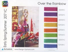 #SS2017 #2017ColourTrends #ColourTrends #2017trends | DESIGN OPTIONS SS 2017 - OVER THE RAINBOW Colour Schemes, Color Trends, Early Spring, Spring Summer, Ss 2017, Day Planners, Over The Rainbow, 2017 Design, Design Trends