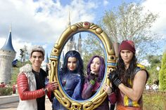 The cast of Descendants takes over main street as the tape their segment for the upcoming Disney Parks Unforgettable Christmas ...