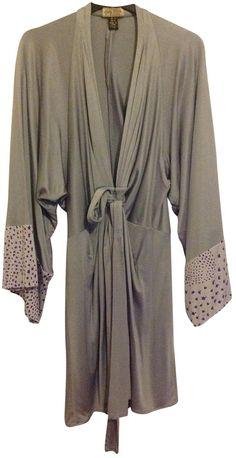 ISSA Grey Silk Dress