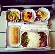 Airline food. There are goods and there are bads.