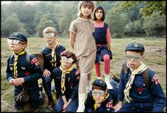 Two fashionable girls and some Boy Scouts taken by fashion photographer Gösta Peterson for New York Times Accidental Wes Anderson, Magazines For Kids, Boy Scouts, Cool Eyes, Central Park, Fashion Pictures, Ny Times, Editorial Fashion, High Fashion