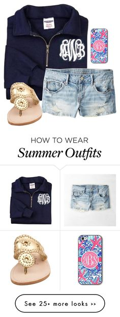 """waiting to leave for school"" by mackenziejameson on Polyvore featuring American Eagle Outfitters and Jack Rogers"