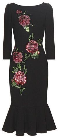 Dolce & Gabbana Sequinned Wool Dress