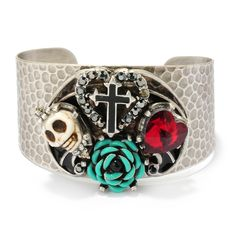 Day of the Dead Cuff #Skull Bracelet