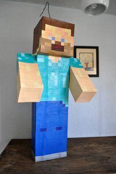 Piñata Steve de Minecraft Pedidos en Facebook https://www.facebook.com/wowpinata
