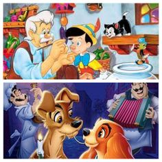 Pinocchio and Lady and the Tramp